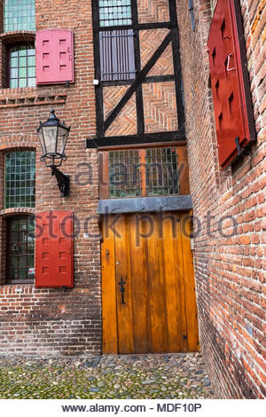 The doorway to Sint Agnietenklooster — Saint Agnes Convent. Put to a variety of uses after the Reformation, it is now the Elburg Museum. - Stock Image