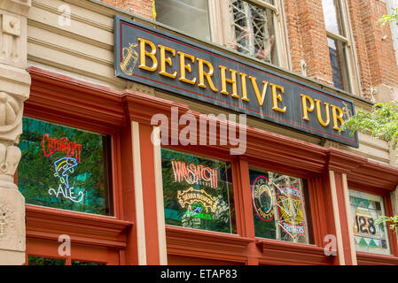 Beerhive Pub - Salt Lake City - Utah - Stock Image