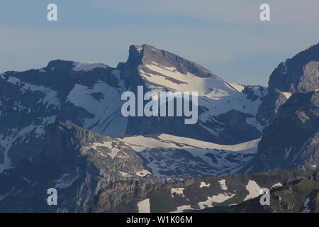 Peaks of the Wendenstoecke Mountain range, Switzerland. - Stock Image