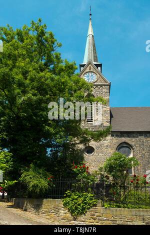 Deutschland, Nordrhein-Westfalen, Wetter (Ruhr), Freiheit Wetter, evangelisch-reformierte Kirche - Stock Image
