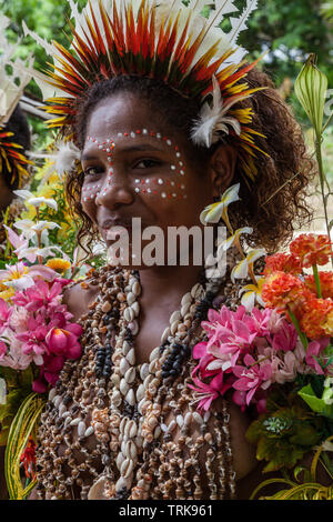 Girl of Kofure, Tufi, Oro Province, Papua New Guinea - Stock Image