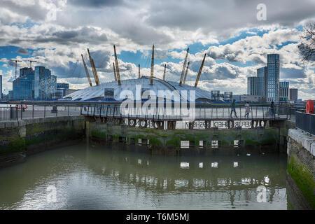 east india dock basin london - Stock Image