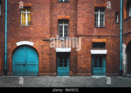 Choice between three different doors. Choosing the right way. Business concept of making decision - Stock Image