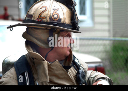 Portrait of firefighter,,, - Stock Image