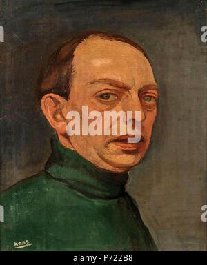. Self-portrait .  English: Self-portrait . 1929 17 Georges Kars, Autoportrait - Stock Image
