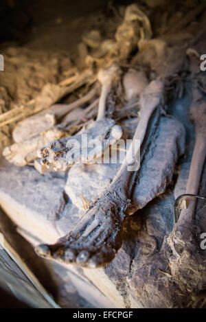 Close-up of the bones in the St. George's church in Lalibela, Ethiopia, is a UNESCO World Heritage site - Stock Image