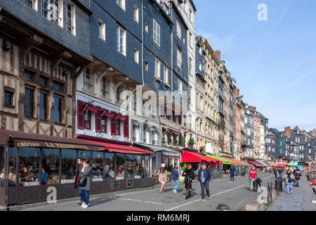 The Vieux Bassin, Honfleur, Normandy, France - Stock Image