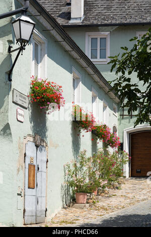 A picturesque house in Stein an der Donau old town, a UNESCO World Heritage site and a popular tourist destination - Stock Image