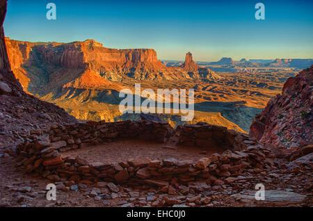 Lost Kiva Canyonlands National Park Desert Landscape - Stock Image