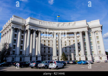 Building of heads and ministers of the Ministry of Foreign Affairs of Ukraine Ukraine Kiev 06.11.2018 - Stock Image