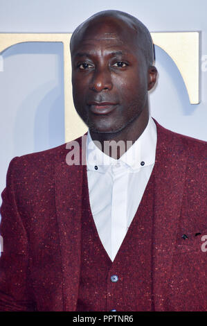 London, UK. 27th September 2018. Ozwald Boateng attend A Star Is Born UK Premiere at Vue Cinemas, Leicester Square, London, UK 27 September 2018. Credit: Picture Capital/Alamy Live News - Stock Image
