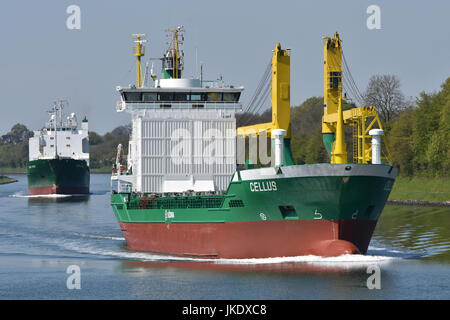 General Cargo Ship Cellus - Stock Image