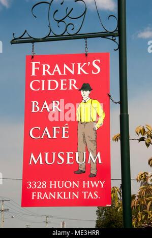 Boutique cider brewery and bar, Franklin, Tasmania, Australia - Stock Image