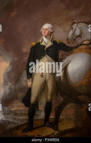 Washington at Dorchester Heights, Gilbert Stuart, 1806, Museum of Fine Arts, Boston, Mass, USA, North America - Stock Image