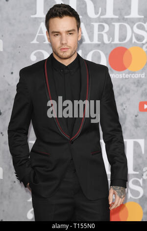 The Brit Awards 2019 held at the O2 - Arrivals  Featuring: Liam Payne Where: London, United Kingdom When: 20 Feb 2019 Credit: WENN.com - Stock Image