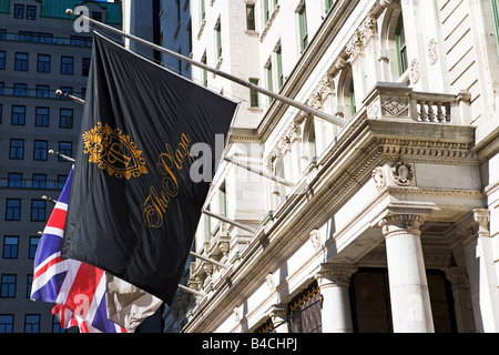 plaza hotel, new york city, flags, hotel, expensive - Stock Image