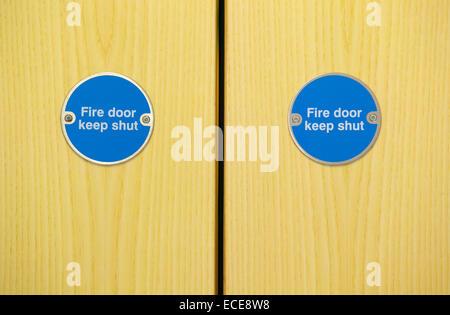 Fire doors - Stock Image