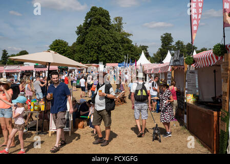 Woodstock, UK, 4th August 2018. Visitors flocked to BBC Countryfile Live, held within the grounds of Blenheim Palace. Animals, wildlife, food, outdoor sports, conservation, farming, rural affairs, entertainment, all were represented. Credit: Stephen Bell/Alamy Live News. - Stock Image