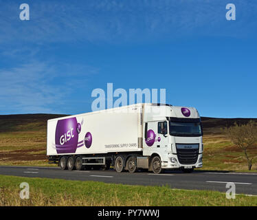 GIST Limited. M6 Motorway Southbound carriageway, Shap, Cumbria, England, United Kingdom, Europe. - Stock Image