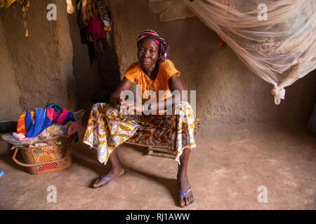 Kourono village, Yako province, Burkina Faso; Elizabeth Toro, 36. Her husband Moussa Mande, 54, is a goat project beneficiary. - Stock Image
