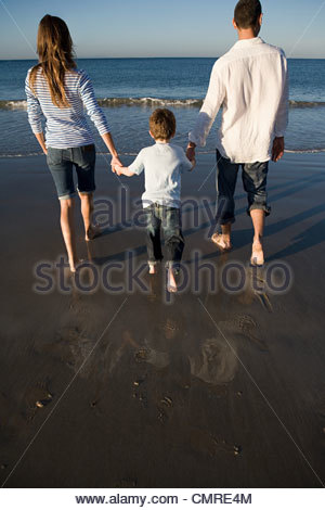 Family by the sea - Stock Image