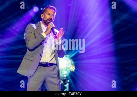 Swiss pop singer and presenter Leonard live at the 19th Schlagernacht in Lucerne, Switzerland - Stock Image