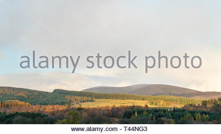 The hills of the lower Cairngorms, Perthshire, Scotland in late Autumn - Stock Image