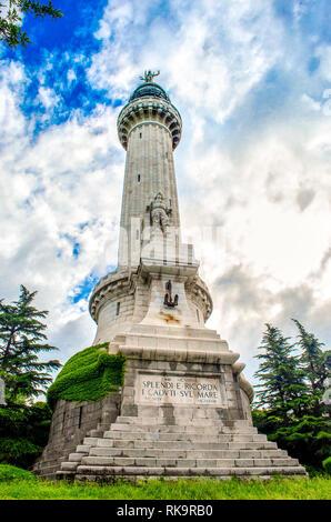 Faro della Vittoria - Trieste Victory Lighthouse Italy - Stock Image
