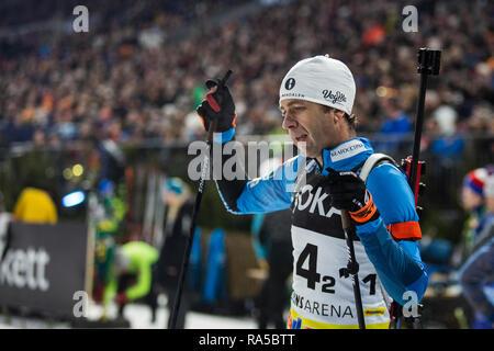 Ole Einar Björndalen (NOR). JOKA Biathlon World Team Challenge 2018 auf Schalke. - Stock Image