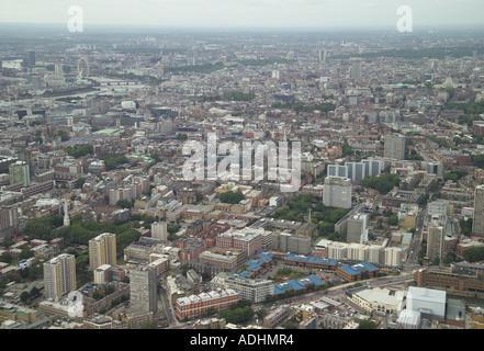 Aerial view of City Forum on the City Road with the City of London in the background - Stock Image