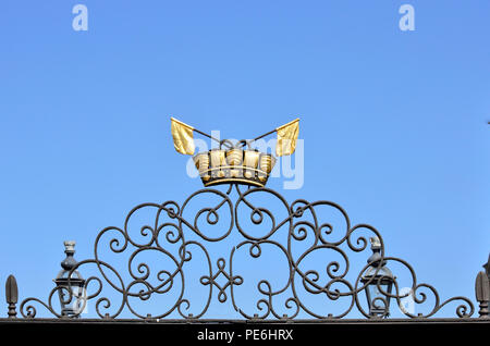 Detail of gate to Queen's House, Greenwich, England 180627_73615 - Stock Image