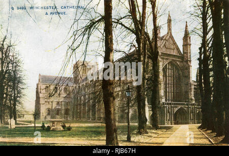 Winchester Cathedral, Winchester, Hampshire. - Stock Image