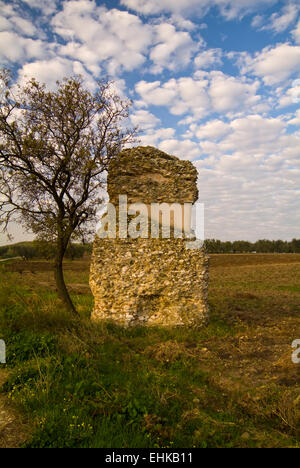 Roman funerary monument, Apulia, Italy - Stock Image