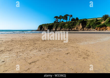 The beach of Douarnenez a sunny day of summer, Finistere, Brittany, France - Stock Image