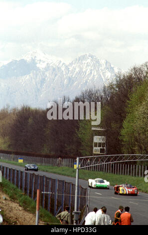 1969 Taf Gosselin Belgian Alfa Romeo T33-2 dnf Scarfiotti Italian Porsche 908 11th Sadler Ford GT40 dnf Monza 1000Ks - Stock Image
