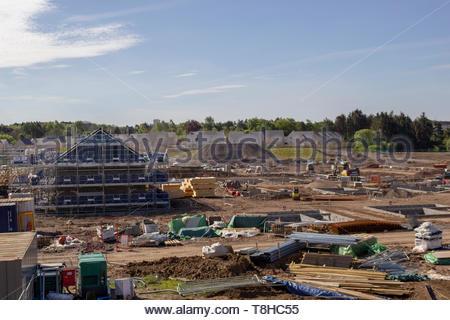 House building in East Kilbride - Stock Image