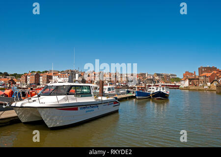 Wetwheels boat for disabled people moored in Whitby harbour. - Stock Image