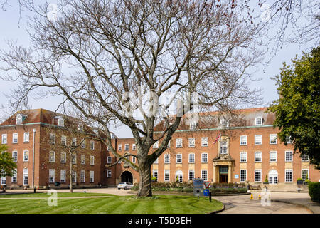 County Hall council building. West Street, Chichester, West Sussex, England, UK, Britain - Stock Image