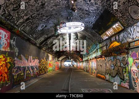 The Vaults, Leake Street Arches, Waterloo, Southwark, London, SE1, UK - Stock Image