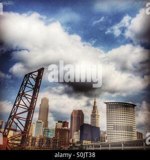 Cleveland, Ohio skyline. - Stock Image