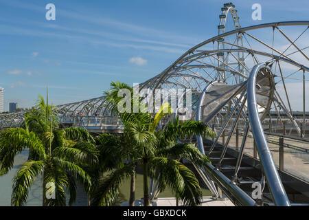 Singapore Helix Bridge, Marina Bay - Stock Image