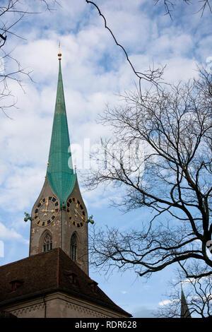 Detail of church in Switzerland. - Stock Image