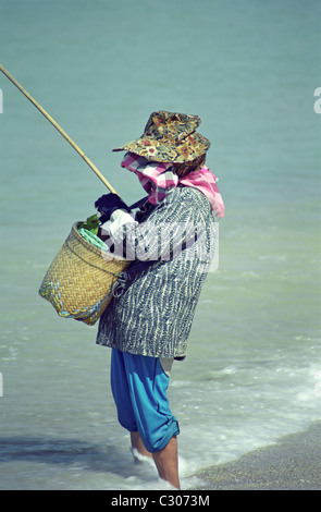 Shore fishing in Phuket, Thailand - Stock Image
