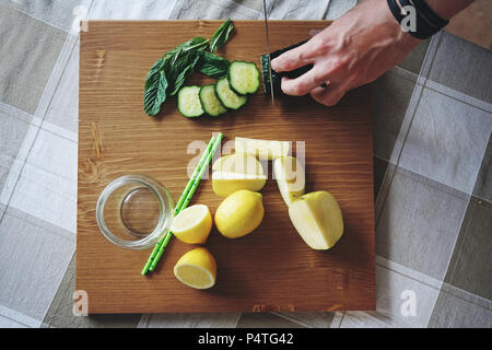 Ingredients of a healthy smoothie - Stock Image