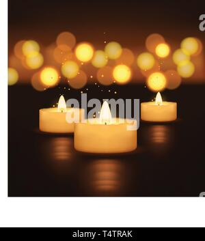 picture of candles - Stock Image