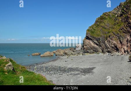 Route through to the beach through Heddon Valley, coast, Devon, UK - Stock Image