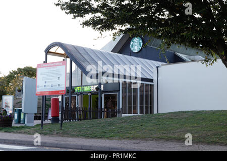 Welcome Break Membury Services near Swindon on the M4 motorway west bound towards Wales - Stock Image