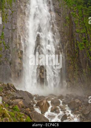 Great Falls of Nachi, the Nachi-taki waterfall on Kumano Kodo Pilgrimage Trail, Kii Peninsula, Wakayama Prefecture, - Stock Image