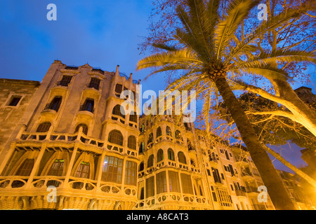 Mallorca Palma de Mallorca Placa Weyler art nouveau building by Francesc Roca and Guillem Reynes Casa Casassayas - Stock Image