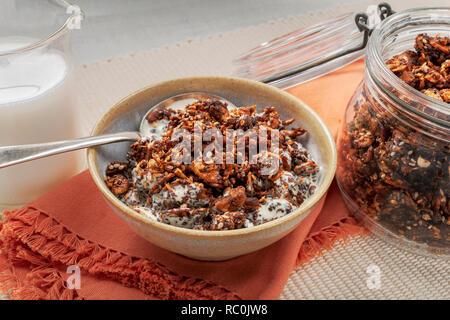 Nutty granola bites - Stock Image